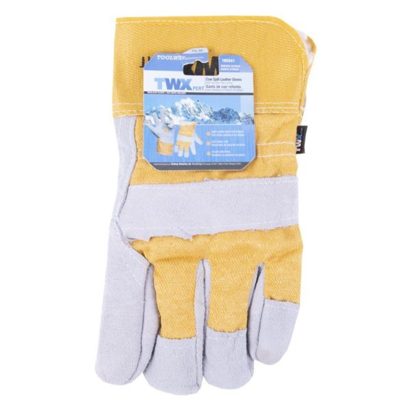 Gloves Leather Cow Split Acrylic Pile Lining