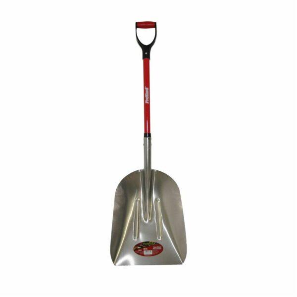 Scoop Shovel Aluminum 47½in Fiberglass D-handle