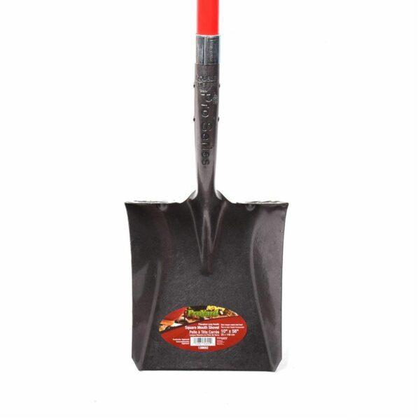 Shovel Square Mouth 10in X58in Fiberglass L-handle