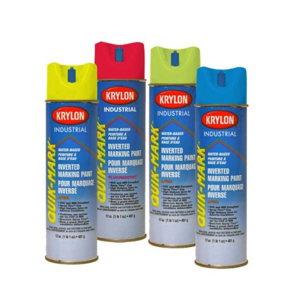 Paint Spray Inverted 481g (17oz) Fluor Safety Blue (water-based)