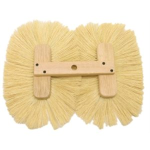 Double Texture Brush - White Tampico