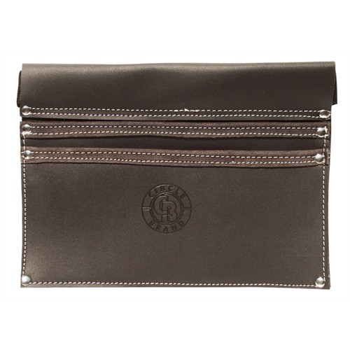 Leather Drywall Nail Bag w/ Nylon Belt