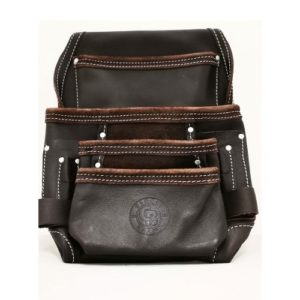 10 Pocket Leather Nail/Tool Bag w/ Metal Loops