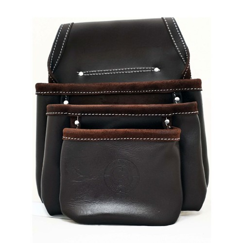 Leather Drywall Nail Pouch - 3 Pocket