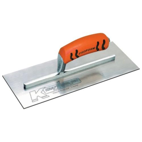 """KRAFT 14"""" X 4.5"""" Carbon Steel Trowel - Curved Blade"""