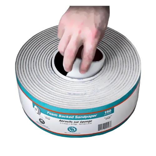 """Sandpaper Roll 3.5"""" x 30'  #100 Grit (Sponge-Back)"""