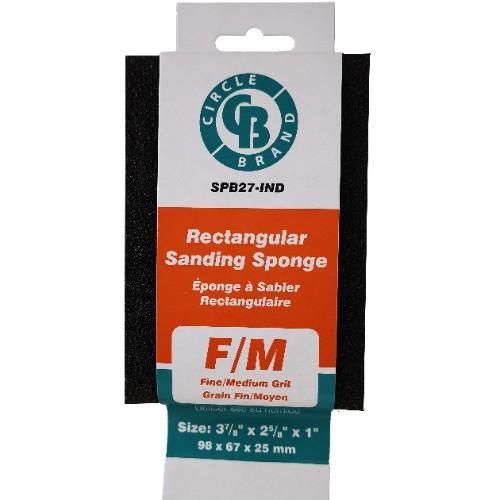 "RECTANGULAR SPONGE (FINE/MEDIUM GRIT) 4-7/8"" X 2-7/8"" X 1""  24/CTN IND.SLEEVED"