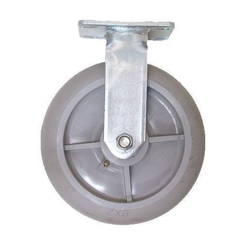 "Grey Dolly Wheel  (8"" x 2"") - Swivel w/ Lock"