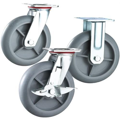 """Grey Dolly Wheel  (8"""" x 2"""") - Fixed"""