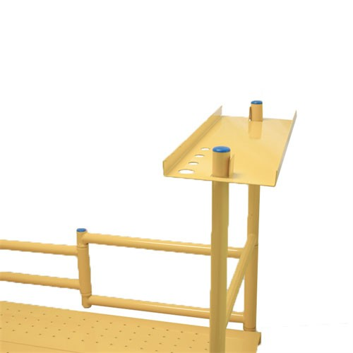 """4' Mini Mobile Scaffold w/Planks & Tray  500 lb Rated w/ 4"""" Casters"""