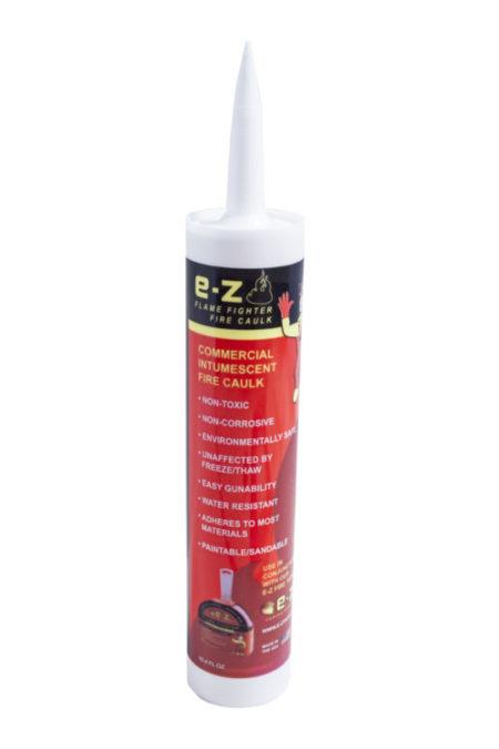 E-Z FLAME FIGHTER INTUMESCENT FIRE CAULK 10.4 OZ EA