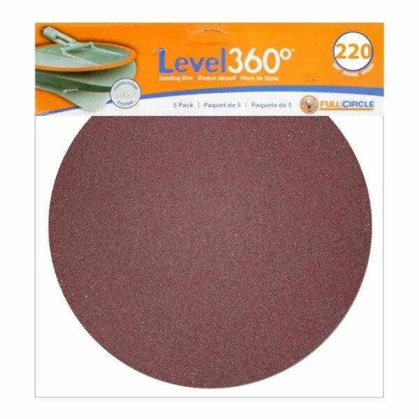 Radius 360 Sanding Disc #220 Grit - 5 Discs/PK