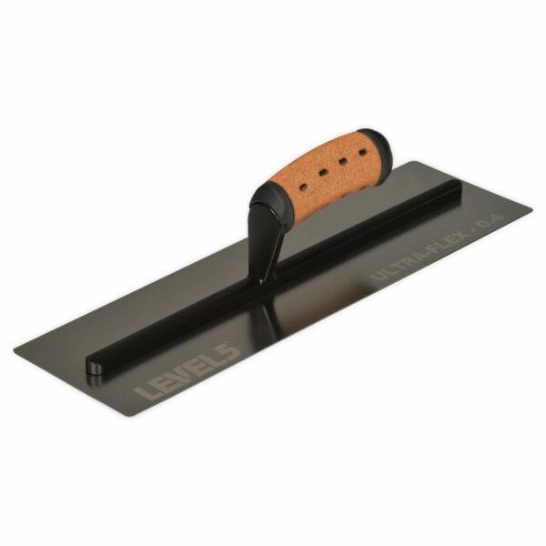 "Level 5 16"" x 4.75"" ULTRA-FLEX Flat Finishing Trowel - 0.4mm S/S Blade"