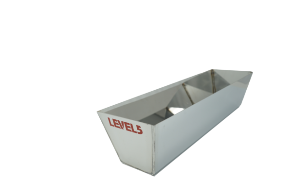"""Level 5 14"""" Mud Pan - Stainless Steel w/ Contoured Bottom"""